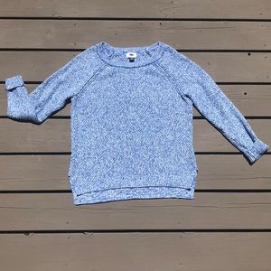 Old navy white and blue knit sweater